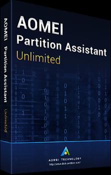 Системная утилита AOMEI Partition Assistant Unlimited (неограниченное кол-во ПК и серверов), пожизненные обновления (PAU-01)