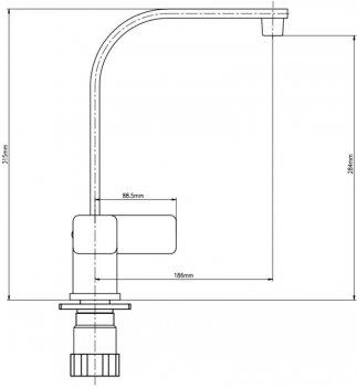 Змішувач кухонний GF (CRM)/S-10-007F