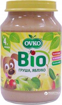 Упаковка фруктового органічного пюре OVKO Груша та яблуко з 4 місяців 190 г x 6 шт. (8586015172724)