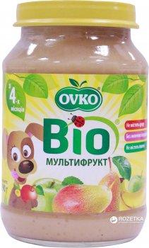 Упаковка фруктового органічного пюре OVKO Мультифрукт з 4 місяців 190 г x 6 шт. (8586015172731)