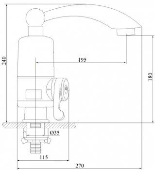 Монокран кухонний GF (WHI)/E-40-110 з електронагріванням