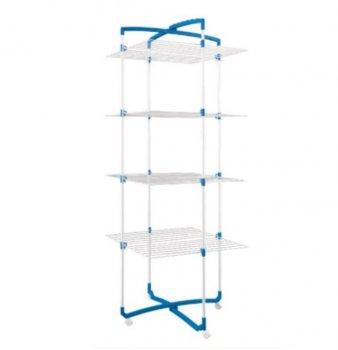Сушилка Metaltex COMO для белья 64x69x171 см белое пластиковое покрытие (405774)