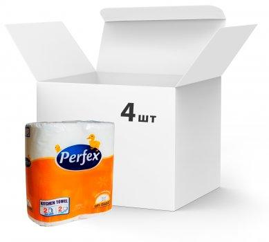 Упаковка паперових рушників Perfex 2 шари 4 пачки по 2 рулони по 50 аркушів (8600000000158)