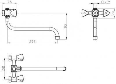 Змішувач для ванни GF (CRM)/S-24-143S