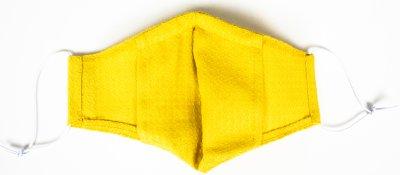Маска защитная конопляная Edelvika многоразовая с фиксацией на переносице и отделением для фильтра размер М Желтая (05-21/00 Жовта)
