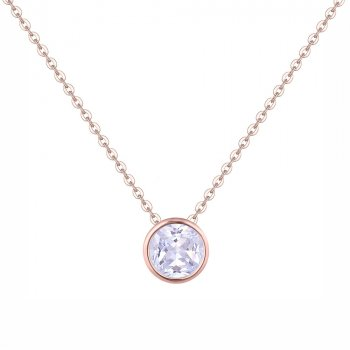 Подвеска Камень в огранке DiaDemaGrand Розовое золото с белым камнем (0416182-22-2)