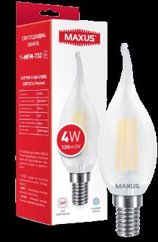 Світлодіодна лампа Maxus C37 FM-T 4W 4100K 220V E14 Frosted (1-MFM-732)
