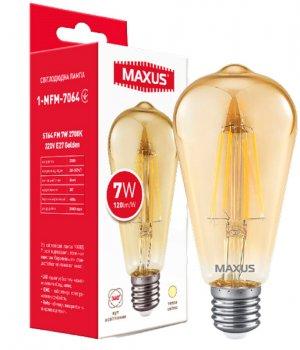 Світлодіодна лампа Maxus ST64 FM 7 W 2700 K 220 V E27 Golden (1-MFM-7064)