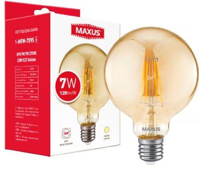 Світлодіодна лампа Maxus G95 FM 7W 2700K 220V E27 Golden (1-MFM-7095)