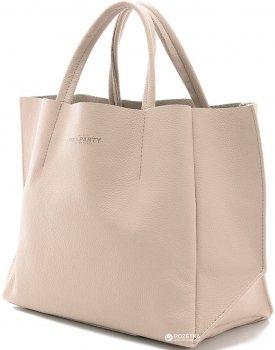 Высококачественная женская сумочка Poolparty SOHO из натуральной кожи бежевая