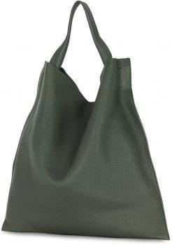 Женская кожаная сумка Poolparty Bohemia Зеленая