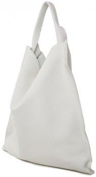 Женская кожаная сумка Poolparty Bohemia Белая