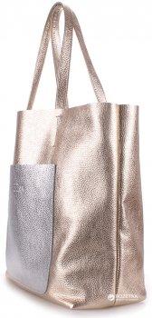 Кожаная сумка POOLPARTY Mania (mania-golden-silver)