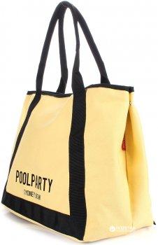 Сумка женская коттоновая Poolparty Laguna Yellow (P-1640)
