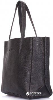 Кожаная сумка Poolparty Soho Mini black