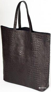 Женская кожаная сумка POOLPARTY City (leather-city-croco-black)