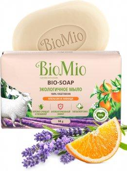 Упаковка экологического туалетного мыла BioMio Bio-soap с эфирными маслами апельсина, лаванды и мяты 90 г х 3 шт (4603014012204)