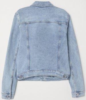 Джинсова куртка H&M 3990618-ACWX Світло-синя