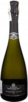 Вино игристое Montalto Premiere Cuvee Brut белое брют 0.75 л 11.5% (8030423003885)