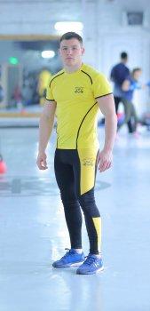 Спортивний чоловічий набір Glory yellow 2 0 FitU od0004770 Жовтий