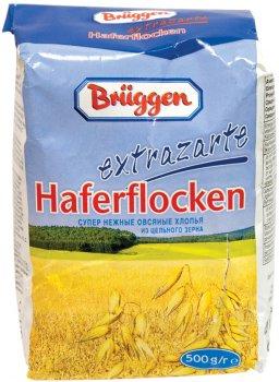 Упаковка вівсяних пластівців Bruggen Extrazarte Haferflocken 500 г х 20 шт. (4008713710373)