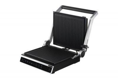 Гриль електричний прес для будинку Ardesto 2000 Вт кращий електрогриль домашній для барбекю контактний настільний притискної сэндвичница бутербродниця чорний GKSTC20BGB