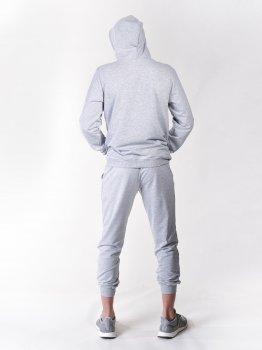 Спортивний костюм (світшот та штани) сірий Vudvud