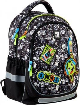 Рюкзак Kite Education для хлопчиків 750 г 38x28x16 см 18 л Чорно-білий патерн (K21-700M-1)