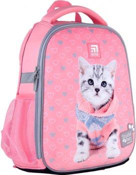 Рюкзак Kite Education Studio Pets каркасний для дівчаток 760 г 35x26x13.5 см 12 л Рожевий (SP21-555S-2)