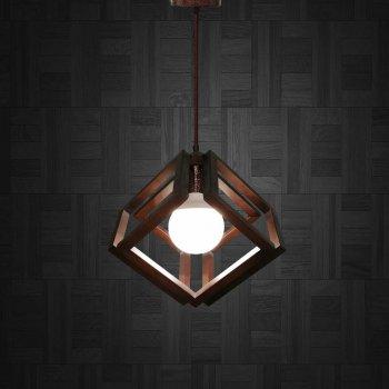 Світильник підвісний MOBIUS E27 на 1-лампу, темне дерево