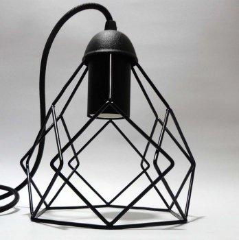 Светильник подвесной RUBY E27 чёрный