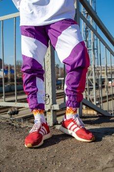 Cпортивные штаны Over Drive Split фиолетово-розовые