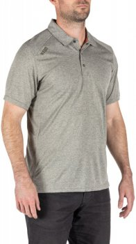 Поло тактичне 5.11 Tactical Paramount Short Sleeve Polo 41221-016 Heather Grey