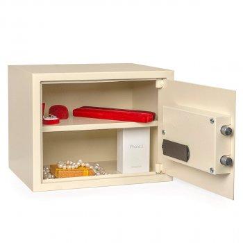 Сейф мебельный Ferocon, модель БС-30Е с 2-х ригельная система из стали слоновой кости (640033)