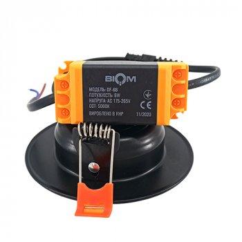 Світильник LED Biom Downlight DF-6B 6Вт чорний круглий 5000К