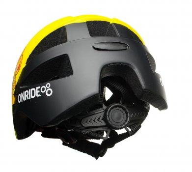 Велосипедный детский шлем ONRIDE Bud S 48-52 Желтый з черным 6931610128
