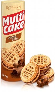 Упаковка печенья Roshen Multicake Cocoa Cream 180 г х 28 шт (4823077622526)