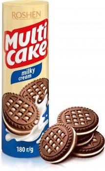 Упаковка печенья Roshen Multicake Milky Cream 180 г х 28 шт (4823077622533)