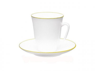 Чашка кофейная с блюдцем И.Ф.З. Майская Золотой кантик 165 мл 13733
