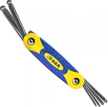 Набор ключей шестигранных S&R S2 с шарниром 3-10 мм 6 шт (365510006)
