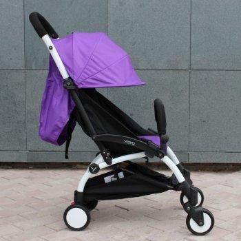 Прогулочная коляска YOYA 175 А+, рама чёрная, Расцветка Фиолетовая