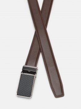 Мужской ремень кожаный Laras C33-30018-1 115-125 см Коричневый (ROZ6400030370)
