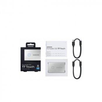 SSD накопичувач Samsung T7 Touch Silver 1TB (MU-PC1T0S/WW)