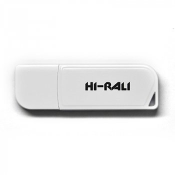 Флеш-накопичувач USB 8GB Hi-Rali Taga Series White (HI-8GBTAGWH)