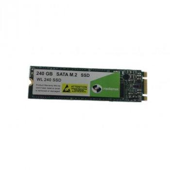 SSD 240GB Mediamax M. 2 2280 SATAIII 3D NAND TLC (WL 240 SSD) Refurbished напрацювання до 1%