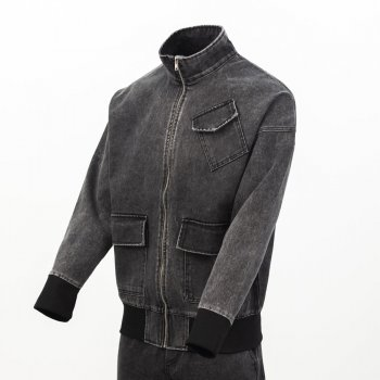Куртка джинсова оверсайз, чоловіча Ossy Homer темно-сірий (2844)
