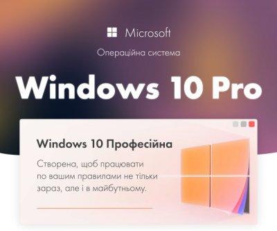 Операційна система Windows 10 Професійна (ESD - електронна ліцензія, всі мови) (FQC-09131) - Windows 10 Pro 32/64-bit