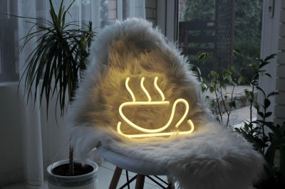 Неоновий світильник Neon Lightning «Кава»
