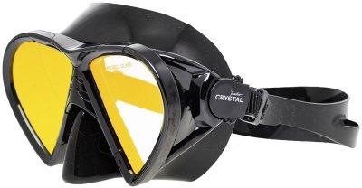 Маска с просветленным стеклом Marlin Crystal Black + Yellow Lens (016181)