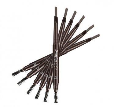Олівець для брів плоский зі щіточкою № 04
